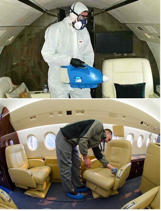 защита пассажиров частных самолетов от короновируса COVID–19