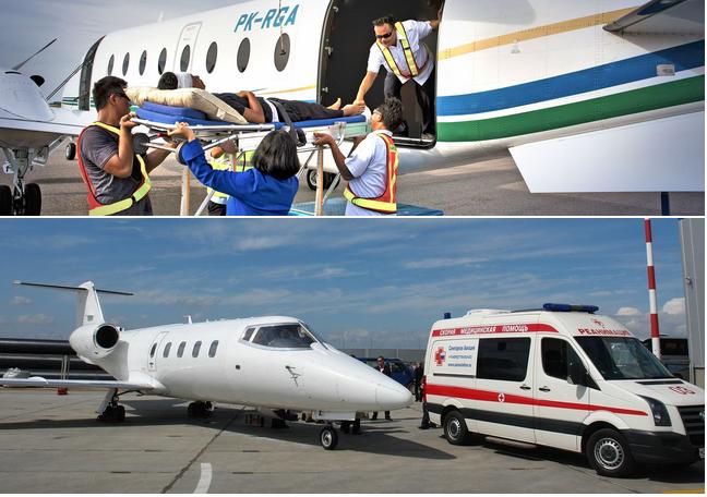 перевозка лежачего больного частным самолетом